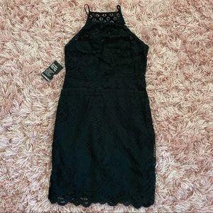 Express black lace tight mini dress size 2